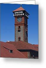 Union Station In Portland Oregon Greeting Card