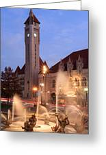 Union Station In Twilight Greeting Card