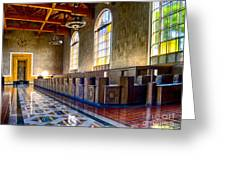 Union Station Interior- Los Angeles 2 Greeting Card