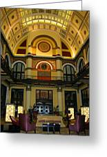 Union Station Lobby-large Size Greeting Card