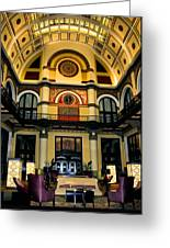 Union Station Lobby Larger Greeting Card