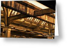 Union Station Roof Beams Greeting Card