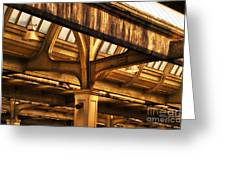 Union Station Roof Structure Greeting Card