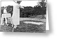 Union Suit Golfer Greeting Card