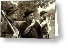 Union Troops Awaiting Orders - Brandenburg Ky Greeting Card