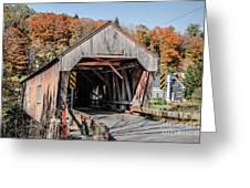Union Village Covered Bridge Thetford Vermont Greeting Card