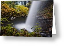 Unique View Of Ponytail Falls Greeting Card