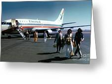 United Airlines Ual Boeing 737-222 N9069u April 1974 Greeting Card