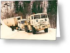 United Nations Convoy In Bosnia Greeting Card