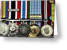 United Nations Peacekeeping Korean War Nato Medals Greeting Card