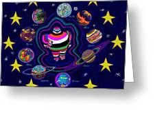 United Planets Of Eurotrazz Greeting Card