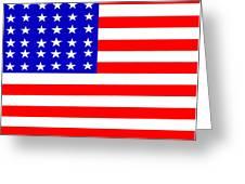 United States 30 Stars Flag Greeting Card