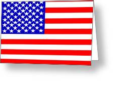 United States 50 Stars Flag Greeting Card