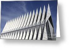 United States Airforce Academy Chapel Colorado Greeting Card