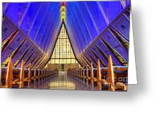United States Airforce Academy Chapel Interior Greeting Card