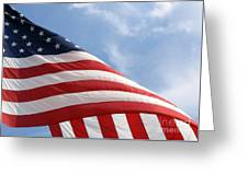 United States Flag Greeting Card