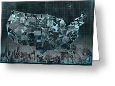 United States Map Collage 5 Greeting Card