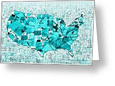 United States Map Collage 8 Greeting Card