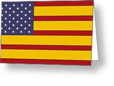United States Of Iberia Greeting Card