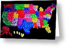 United States Of Lite Brite Greeting Card