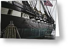 United States Ship Constellation Greeting Card by George Oze