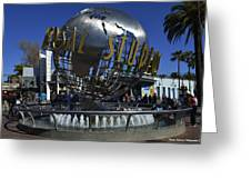 Universal Studios Globe Greeting Card