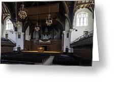 University Auditorium And The Anderson Memorial Organ Greeting Card