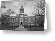 University Hall Black And White Greeting Card