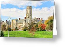 University Hall University Of Toledo 9206 Greeting Card