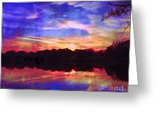 University Lakes At Twilight Greeting Card