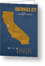 University Of California At Berkeley Golden Bears College Town State Map Poster Series No 024 Greeting Card