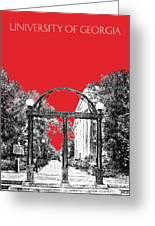 University Of Georgia - Georgia Arch - Red Greeting Card