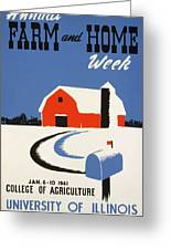 University Of Illnois Farm And Home Week Greeting Card by American Classic Art
