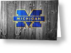 University Of Michigan Greeting Card