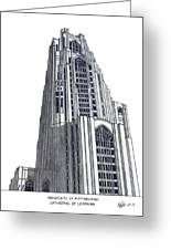 University Of Pittsburgh Greeting Card