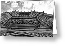 University Of Sydney-black And White Greeting Card