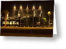 University Of Tampa At Night Greeting Card