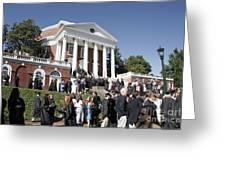 University Of Virginia Rotunda Graduation Greeting Card