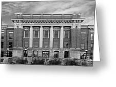 University Of Wisconsin Milwaukee Mitchell Hall Greeting Card by University Icons
