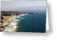 Unknown Beach Off Hwy 1 Greeting Card