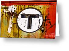 Unknown T - Railroad Art Greeting Card