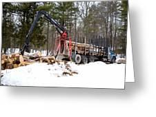 Unloading Firewood 1 Greeting Card