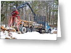 Unloading Firewood 2 Greeting Card