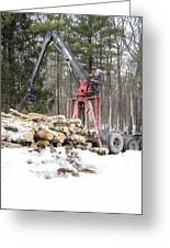 Unloading Firewood 5 Greeting Card