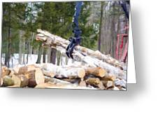 Unloading Firewood 8 Greeting Card