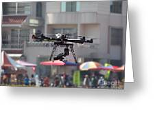 Unmanned Aerial Vehicle With A Digital Camera Greeting Card