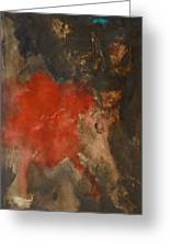 Untitled Abstract - Umber With Scarlet Greeting Card