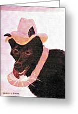 Untitled Dog With Hat Greeting Card
