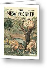 New Yorker April 12th, 2010 Greeting Card