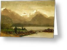 Untitled Mountains And Lake Greeting Card